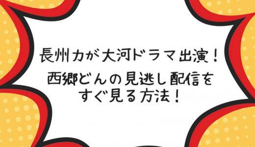 長州力の大河ドラマ西郷どんを見逃した!再放送を今すぐ視聴する方法!